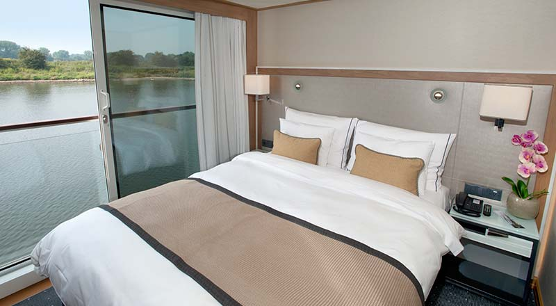 French balcony stateroom on Viking Longship