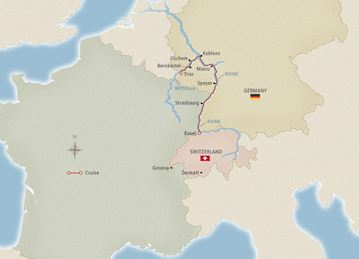 Rhine & Moselle Discovery Map