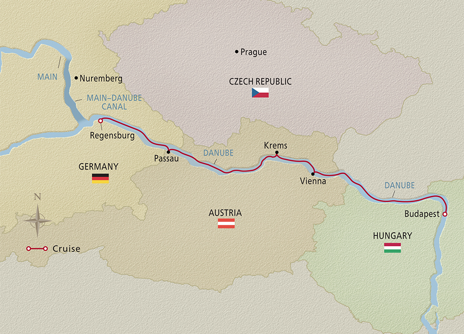 2021 Romantic Danube cruise map