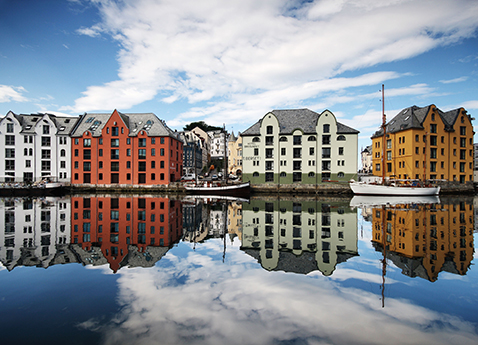 Houses in Ålesund, Norway
