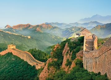 Morning in Great Wall of China