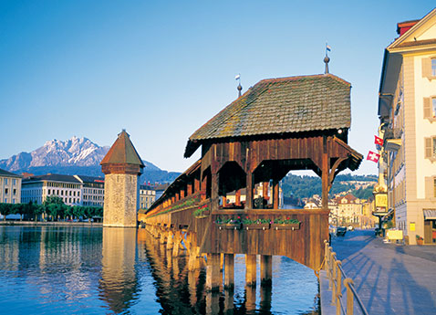 Chapel Bridge - Lucerne, Switzerland