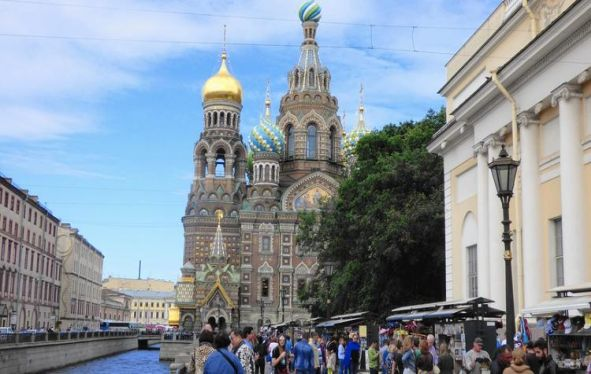Church of the Savior on Blood in St. Petersburg, Russia