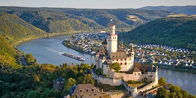 Marksburg Castle on the Rhine river