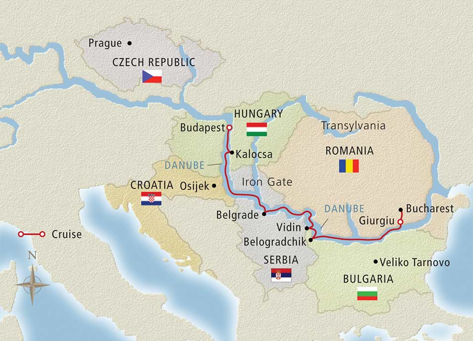 Passage to Eastern Europe Map