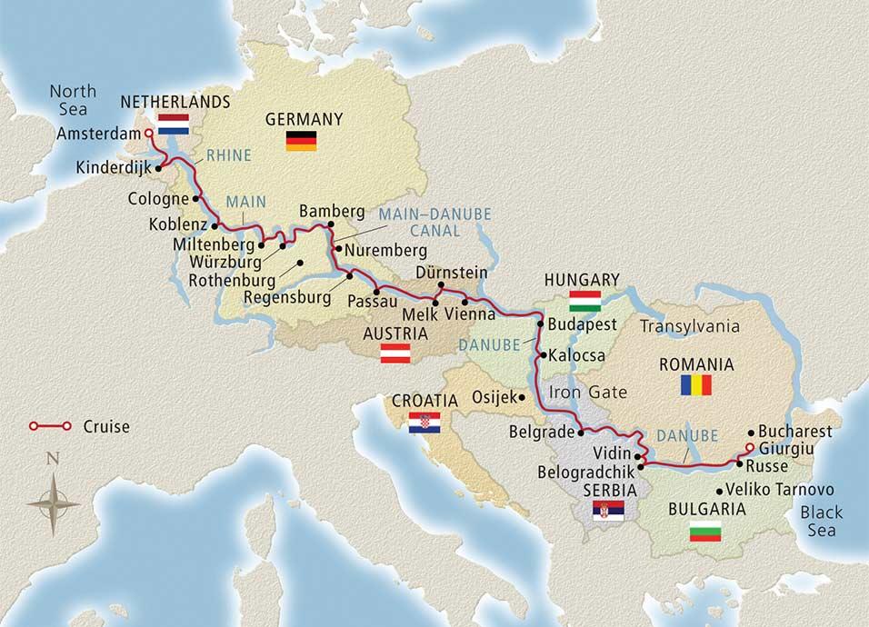 Danube River Map Of Europe.Danube River Cruises Viking River Cruises