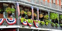 French Quarter building balcony, New Orleans