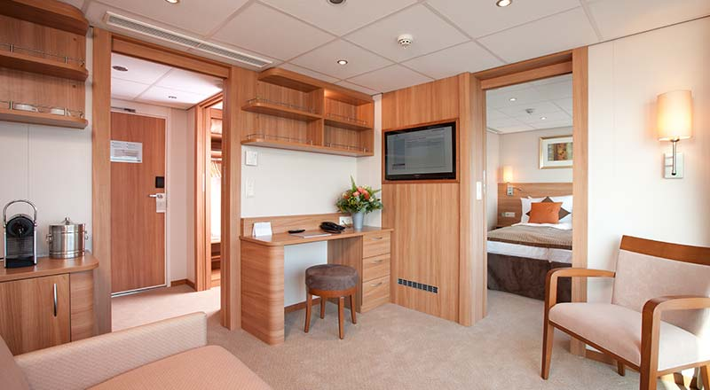 Stateroom suite on board Viking Legend
