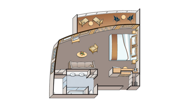 AA Suite floorplan on Viking Russia vessels