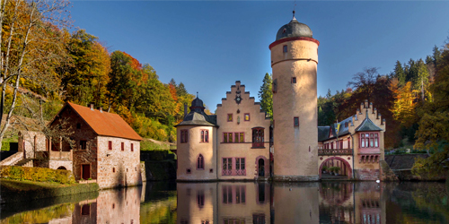 Schloss Mespelbrunn Castle with a moat