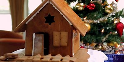 Christmas ginger bread house